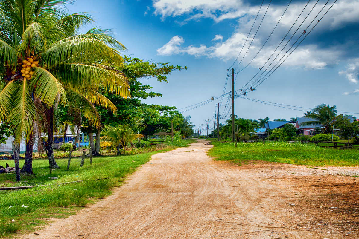 South America Suriname Paramaribo Road Large